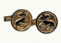 Custom Logo - 3 Headed Dog Cuff Links