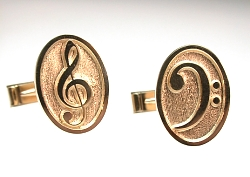 Treble & Bass Clef Cuff Links