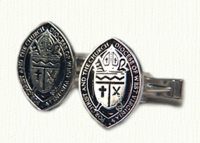 Custom religious cuff links in sterling silver