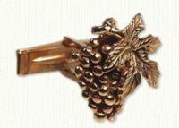 Grape & Leaf cuff links