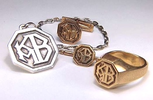 Custom photo etched monogram jewelry