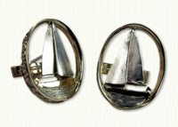 Sailboat Cuff Links - 14kt two tone