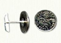 6 Pence cuff links