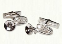 Tuba Cuff Links 1 inch size